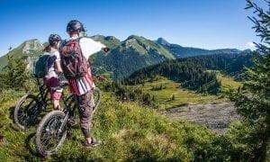 Mountain biking in Mozine