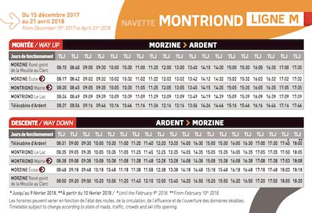 The Winter 17/18 Bus Timetable – Morzine Source Magazine