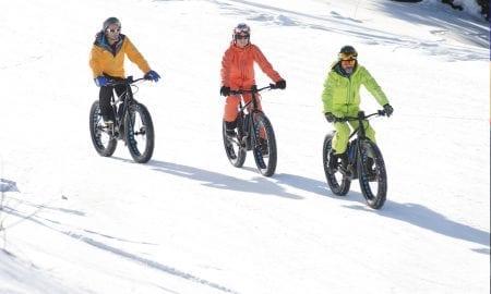 Snow biking Morzine