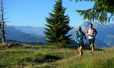 Trail running les gets
