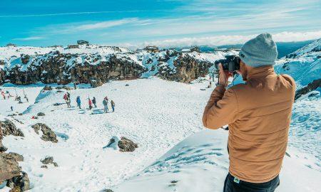 freeze frame mountain photography